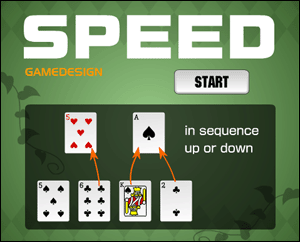 7 Card Speed Game